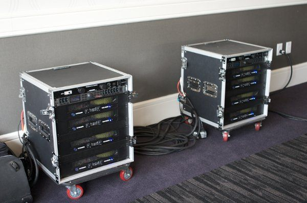 Crown Amplifiers....enough to deliver 11,500 Watts to the JBL speakers.
