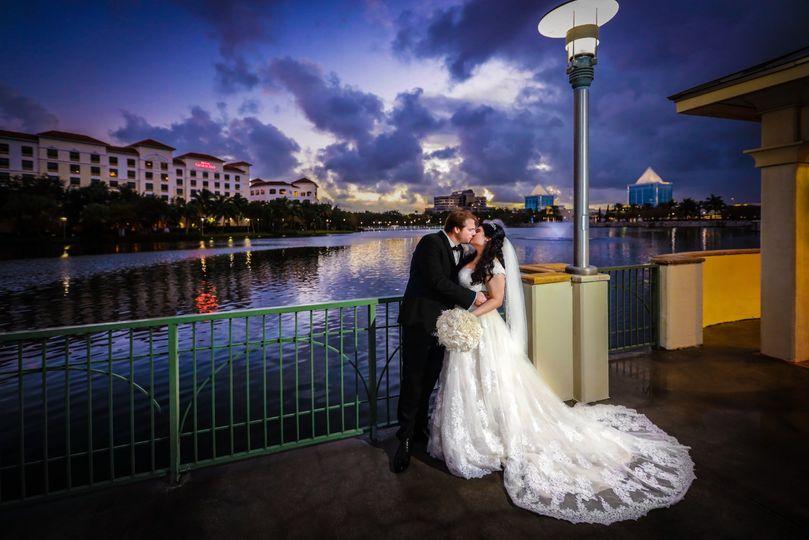 Bride & Groom Night Walkway