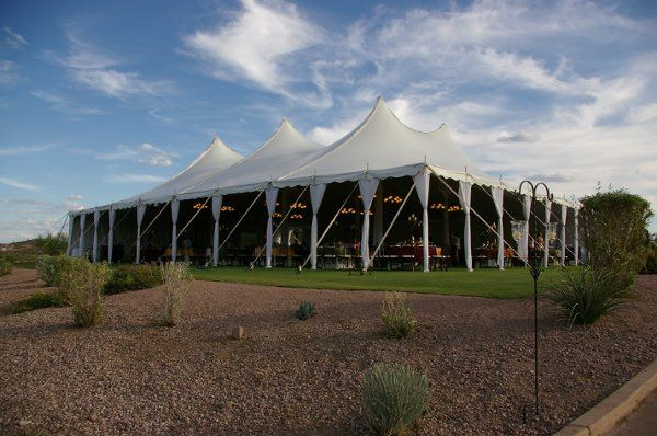 Tent rentals...it's in our name! We offer beautiful event tenting in solid white vinyl and even...