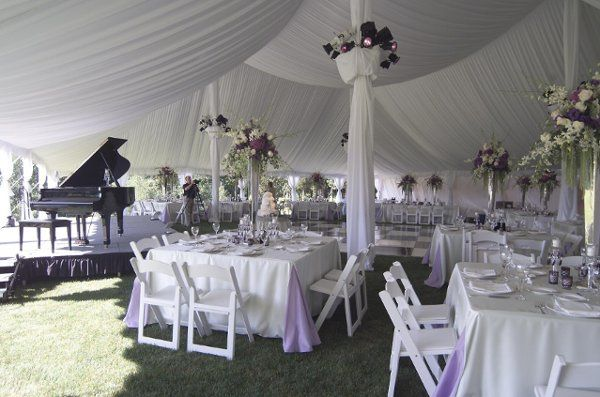 A tent rental for your wedding could easily be turned into something more! By adding a tent liner...