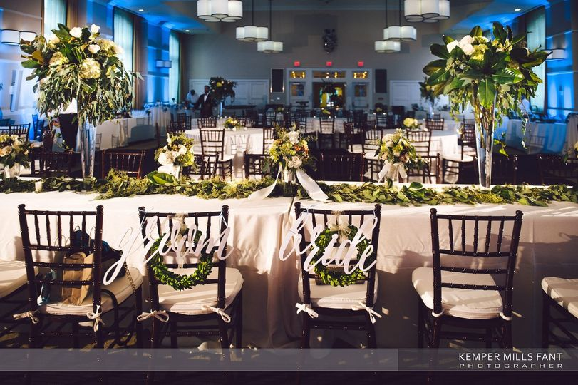 Groom and Brides Table