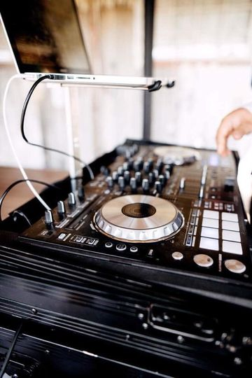 DJ's mixing table