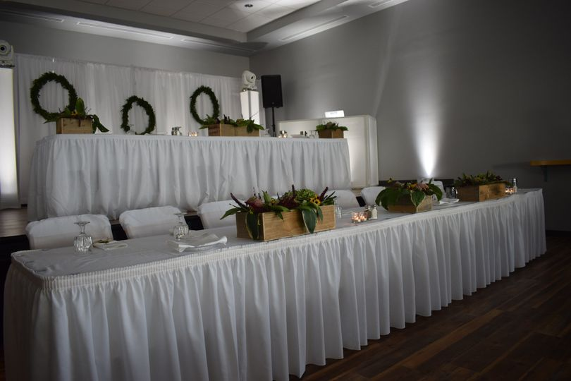 Staging of the head tables