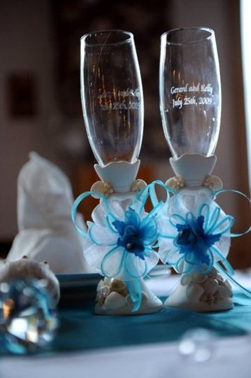 Couple's wine glasses