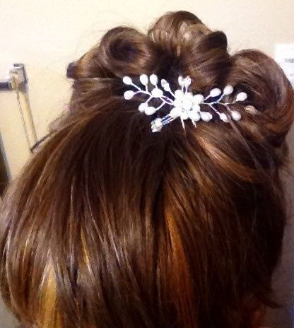 Bling hair combs updo
