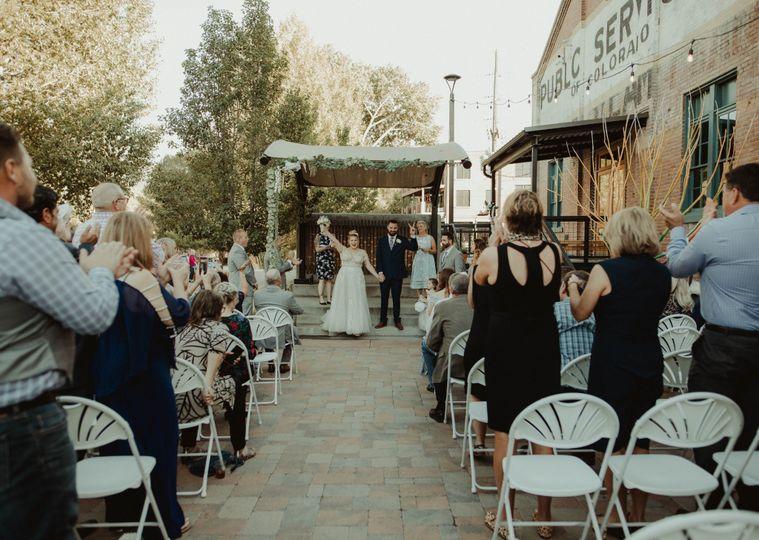 Plaza stage ceremony