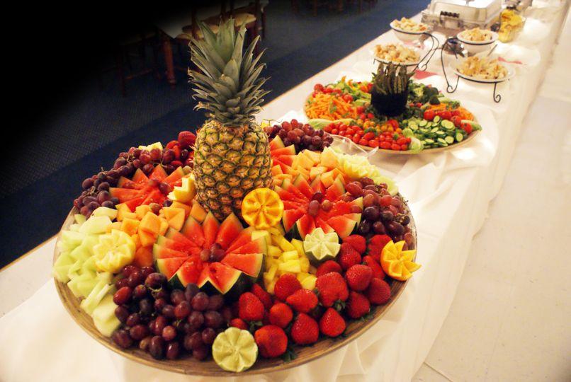 fruit tray wide shot w tabl