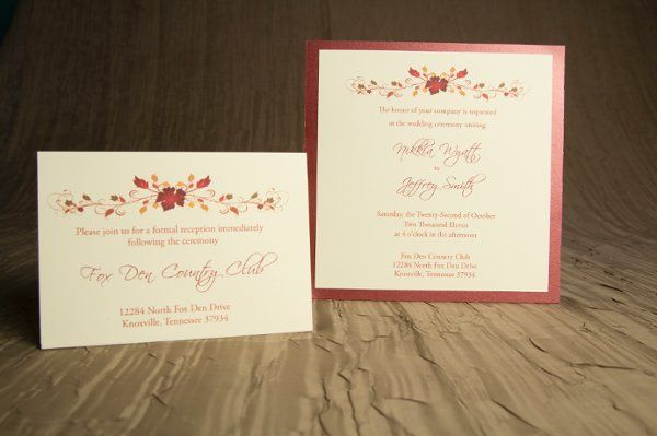 Tmx 1328664219994 AutumnWeddingInvitations1 Springfield wedding invitation