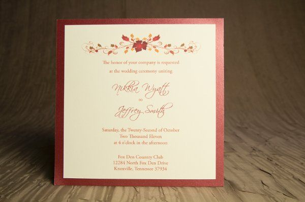 Tmx 1328664252278 AutumnWeddingInvitations2 Springfield wedding invitation