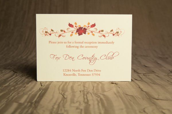 Tmx 1328664286930 AutumnWeddingInvitations3 Springfield wedding invitation