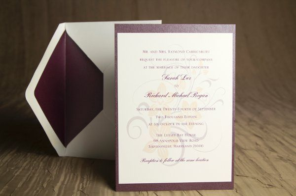 Tmx 1328664382594 PurpleandPeachWeddinginvitation1 Springfield wedding invitation