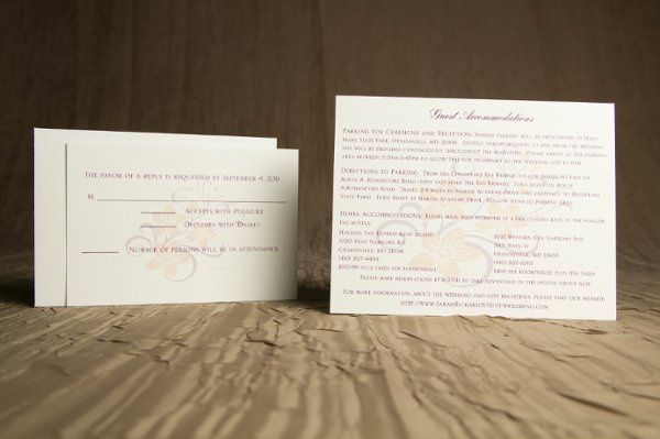 Tmx 1328664413938 PurpleandPeachWeddinginvitation2 Springfield wedding invitation