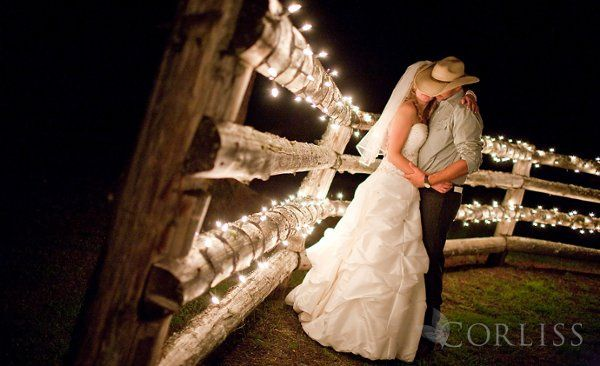 Romantic moment in the corral at the Kelley Farm.