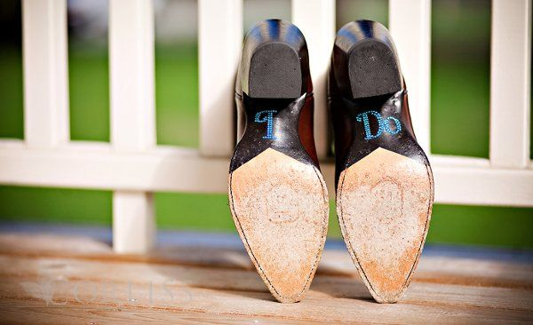 Cowboy boots for the bride!