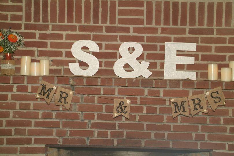 Couple's signage