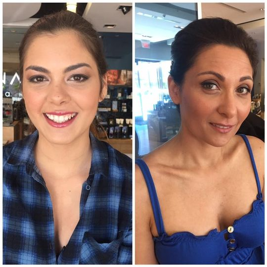 Mother & daughter bridal makeup by Brittany North