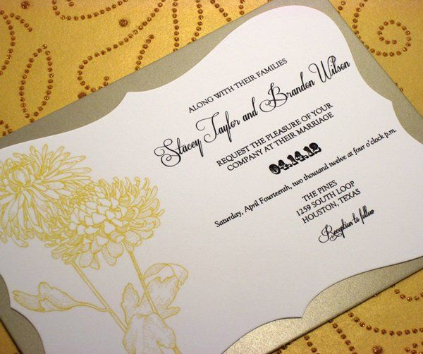 A beautiful sketch of yellow and grey chrysanthemums is the highlight of this design, perfect for a...