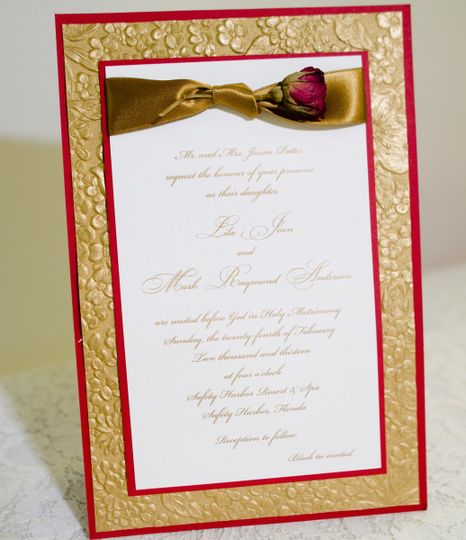 Pink and gold borders
