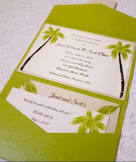 Apple green invites