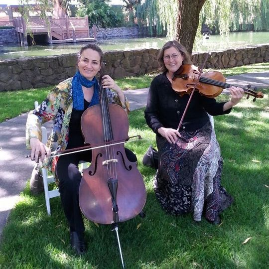 Vlazville Music's Skyline Duo looks and sounds elegant for outdoor ceremonies