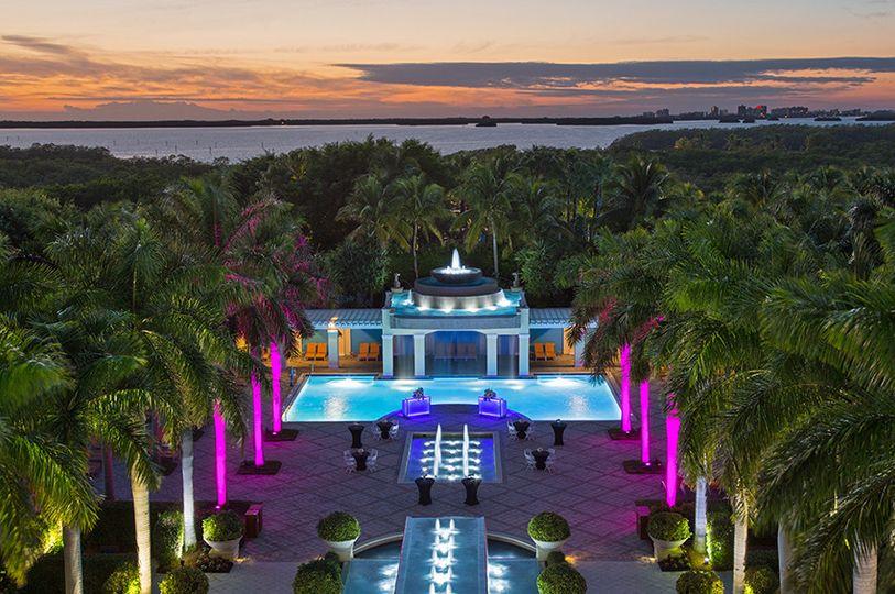Aerial view of the Hyatt Regency Coconut Point Resort & Spa