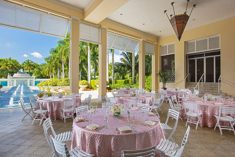 Indoor wedding reception venue