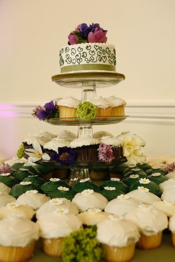 Sping in bloom cupcake tier.