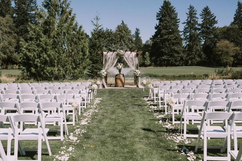 Wedding ceremony set-up