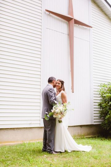 Intimate church wedding