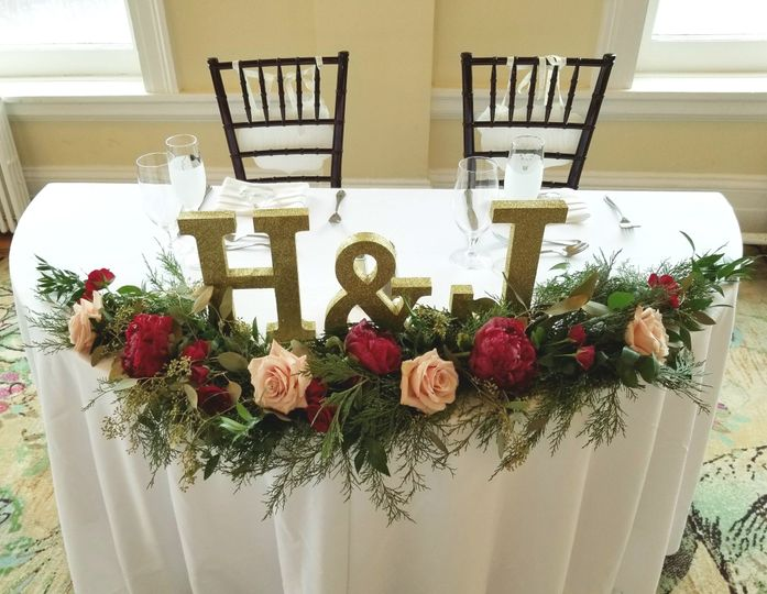 Holiday Sweetheart table