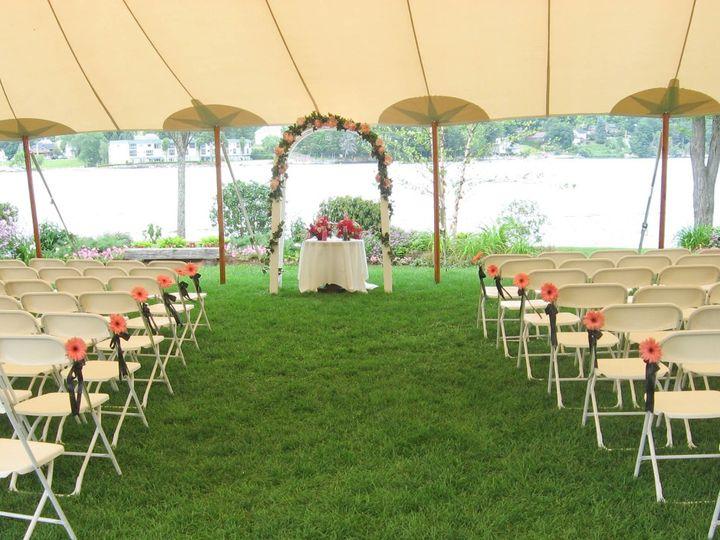 Tmx 1341164061603 Outsidelightpinkgerberaschairs Tilton, New Hampshire wedding florist