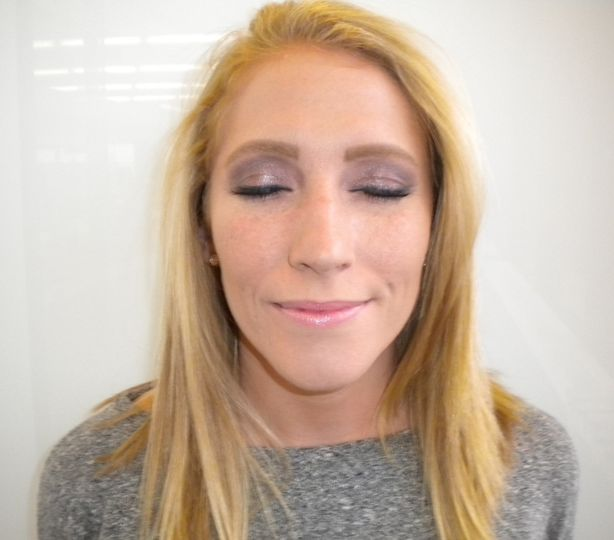 Celine's pretty water color makeup for an evening out!