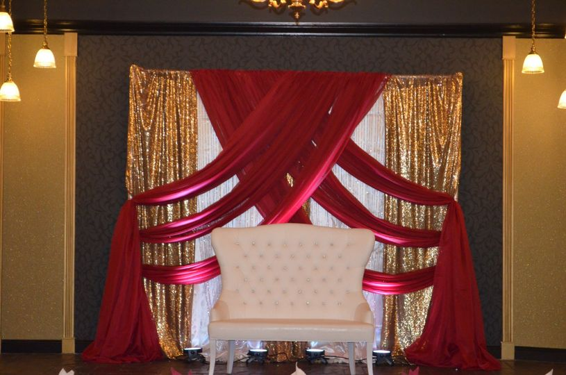 Red Gold Ivory Backdrop