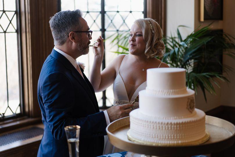 Wedding with Cake on Landing