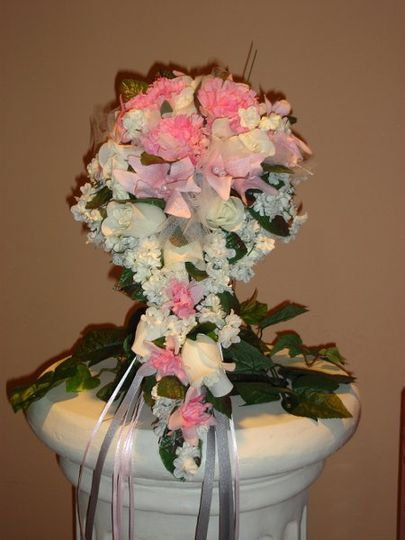 Silver & Pink Cinderella Bouquet for Summer Wedding