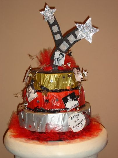 Movie themed party centerpiece
