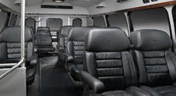 Interior of 13 passenger executive van