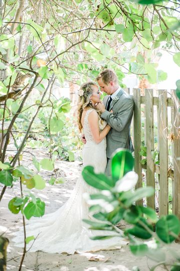 Bride and Groom Stealing a Moment - Hilton Singer Island Wedding