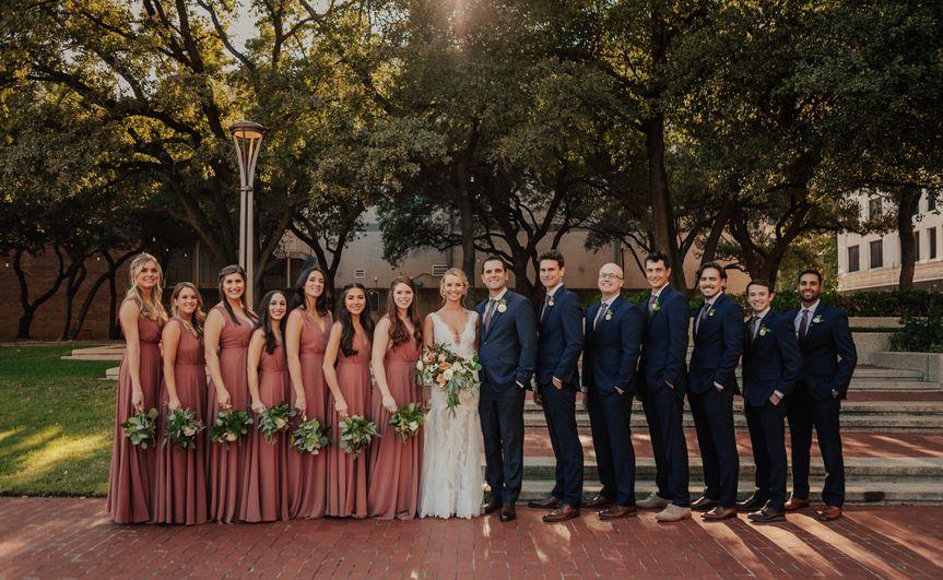Wedding Party in the oark