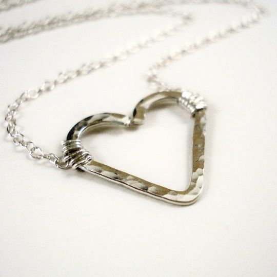 Simple and sweet, this necklace is perfect for your little flower girl. I hand formed the heart from...