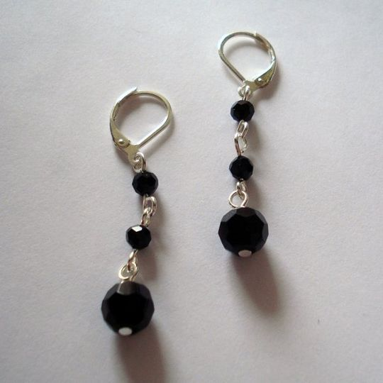 Just like every woman needs that little black dress, you also need these little black earrings....