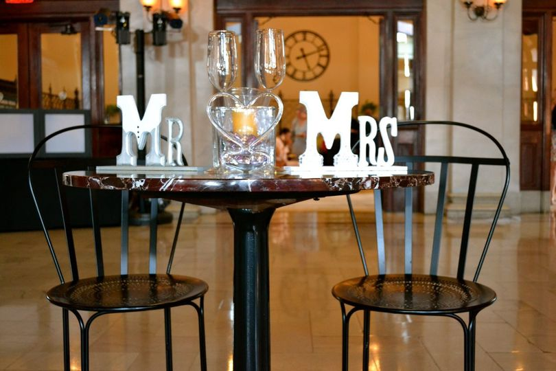 Mr. and Mrs. Table.  Main Street Train Station.