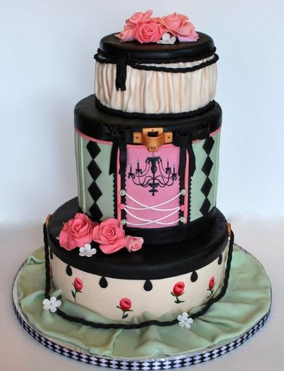 all edible fondant work.  handpainted designs.