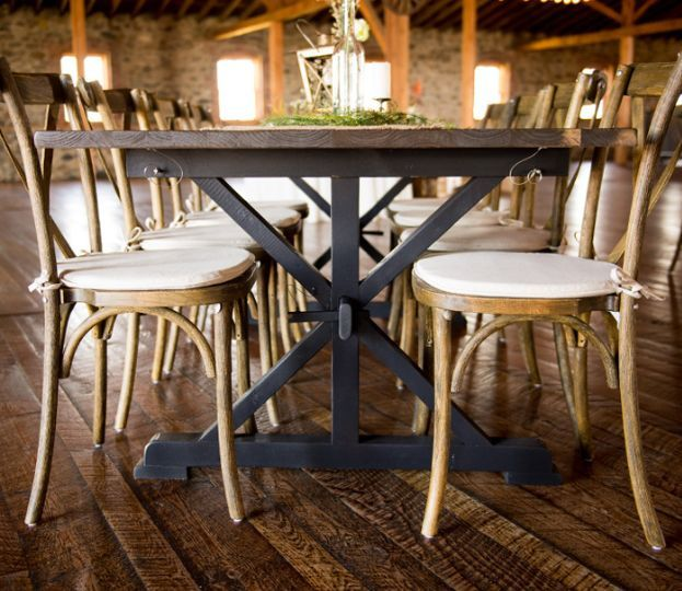Farm Tables and X-Back Chair