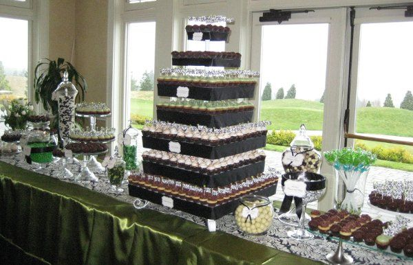 Cupcake and candy buffet designed by owner, Jennifer Shea