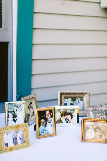 Picture frame photos