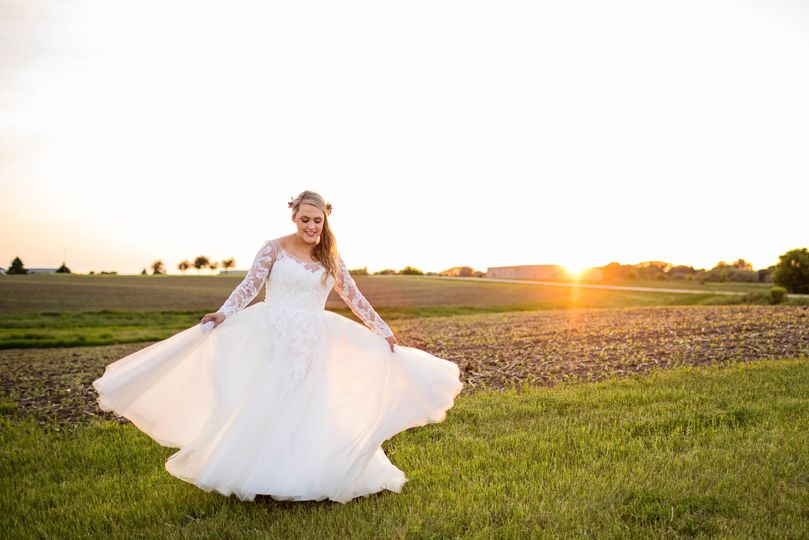 Bride in a field - Midwest LifeShots Photography
