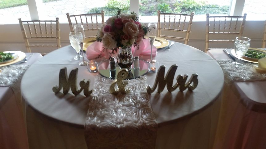 sweet heart with long head table