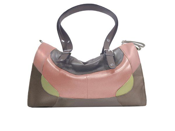 Features adjustable magnetic healing straps. Soft Italian lambskin with chrome hardware. Zippered...
