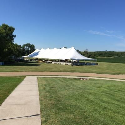 Tent used for 500 guests